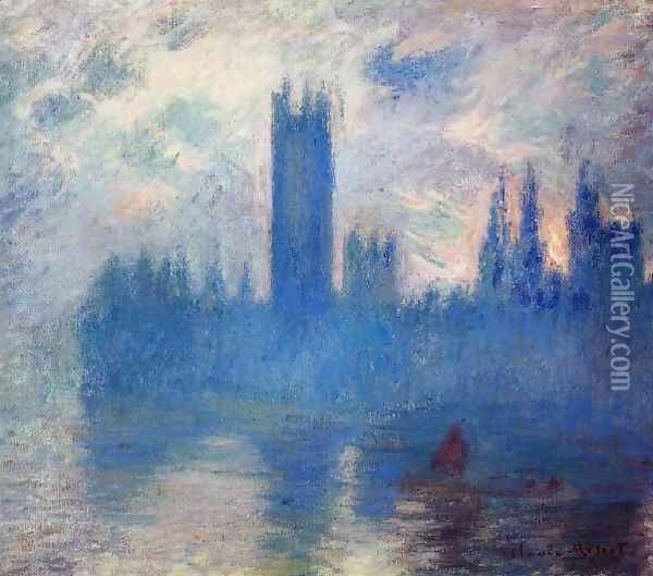 Houses Of Parliament Westminster Oil Painting - Claude Oscar Monet