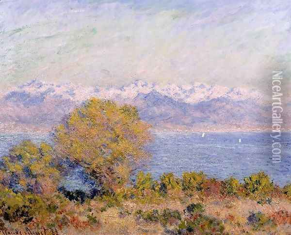 The Alps Seen From Cap D Antibes Oil Painting - Claude Oscar Monet