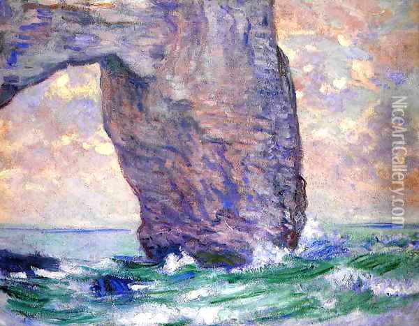 The Manneport Seen From Below Oil Painting - Claude Oscar Monet