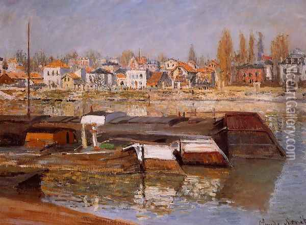 The Seine At Asnieres Oil Painting - Claude Oscar Monet