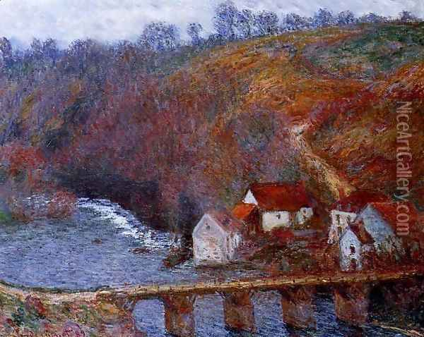 The Grande Creuse By The Bridge At Vervy Oil Painting - Claude Oscar Monet
