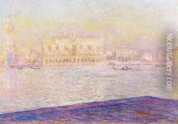 The Doges Palace Seen From San Giorgio Maggiore2 Oil Painting - Claude Oscar Monet