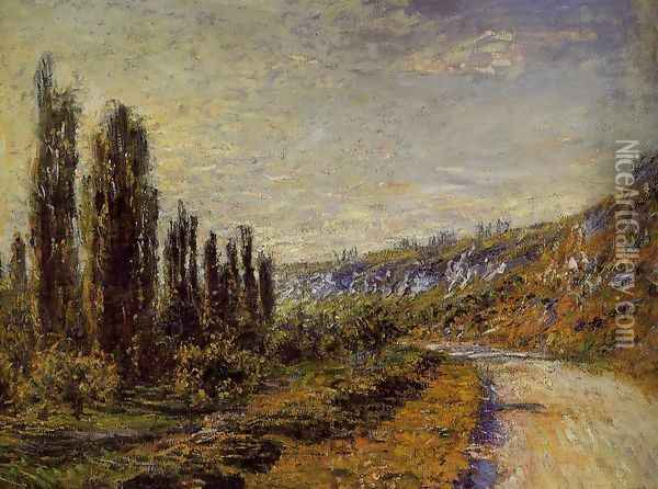 The Road From Vetheuil Oil Painting - Claude Oscar Monet
