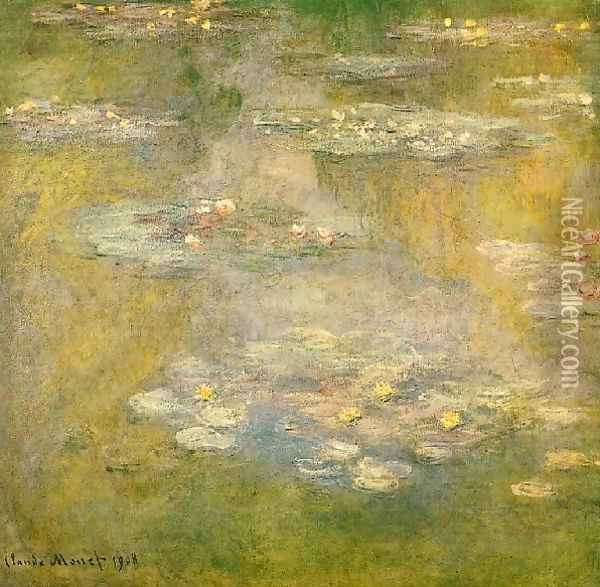 Water Lilies44 Oil Painting - Claude Oscar Monet