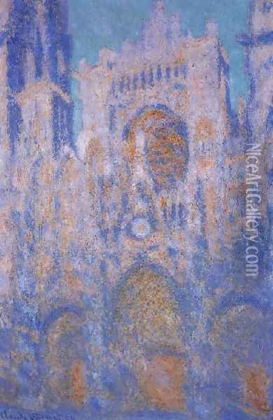 Rouen Cathedral Symphony In Grey And Rose Oil Painting - Claude Oscar Monet