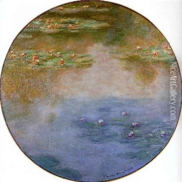 Water Lilies56 Oil Painting - Claude Oscar Monet