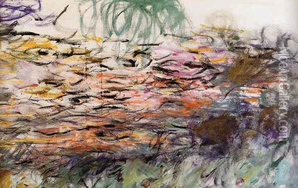 Water-Lilies (right half) Oil Painting - Claude Oscar Monet