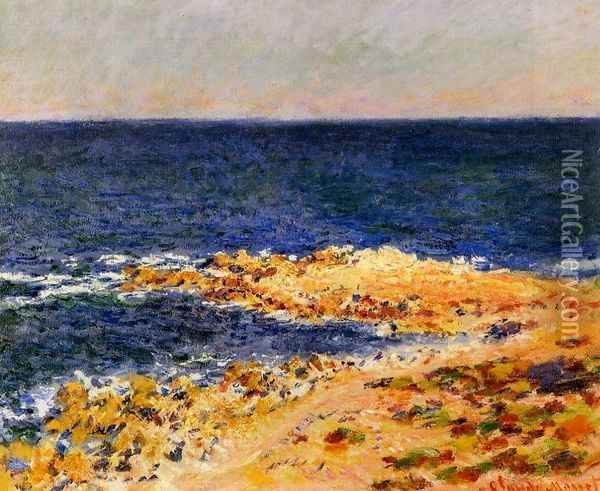 The 'Big Blue' at Antibes Oil Painting - Claude Oscar Monet