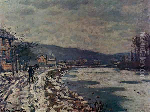The Seine At Bougival Oil Painting - Claude Oscar Monet