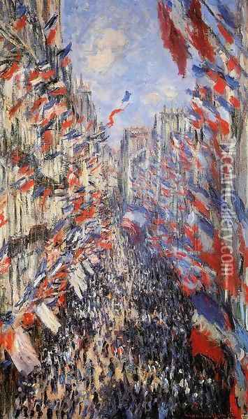 The Rue Montorgeuil 30th Of June 1878 Oil Painting - Claude Oscar Monet