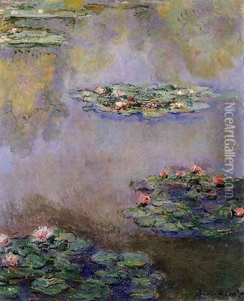 Water Lilies33 Oil Painting - Claude Oscar Monet