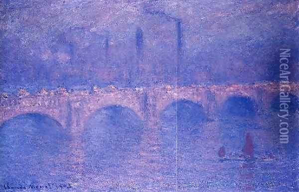 Waterloo Bridge Hazy Sun Oil Painting - Claude Oscar Monet