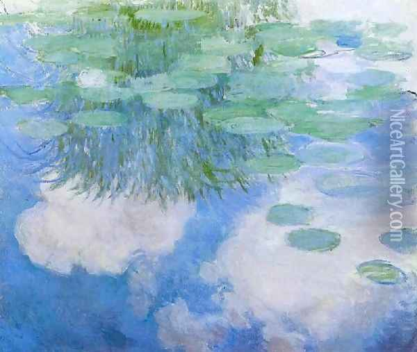 Water Lilies53 Oil Painting - Claude Oscar Monet