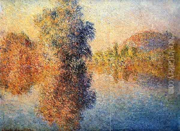 Morning On The Seine5 Oil Painting - Claude Oscar Monet