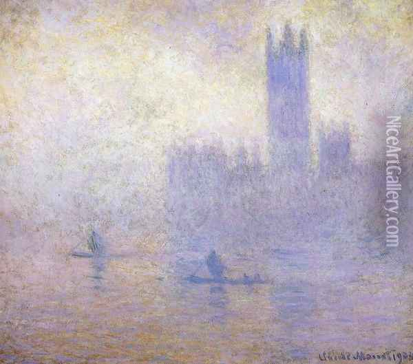 Houses of Parliament, Fog Effect I Oil Painting - Claude Oscar Monet