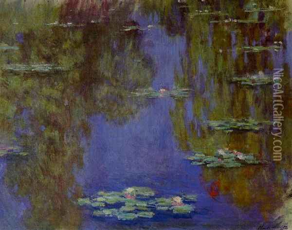 Water-Lilies IV Oil Painting - Claude Oscar Monet