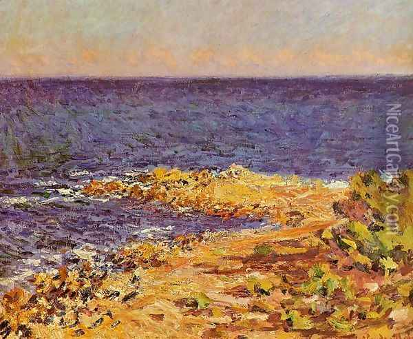 The Meditarranean At Antibes Oil Painting - Claude Oscar Monet
