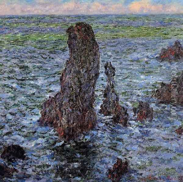 The Pyramids At Port Coton Oil Painting - Claude Oscar Monet