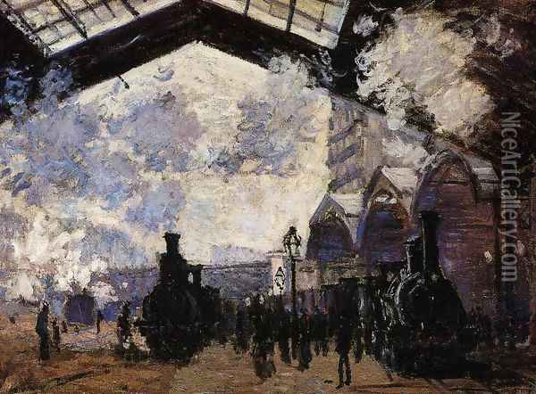 The Saint Lazare Station Oil Painting - Claude Oscar Monet