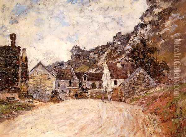 The Hamlet Of Chantemesie At The Foot Of The Rock Oil Painting - Claude Oscar Monet