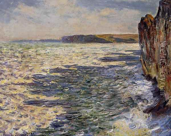 Waves And Rocks At Pourville Oil Painting - Claude Oscar Monet