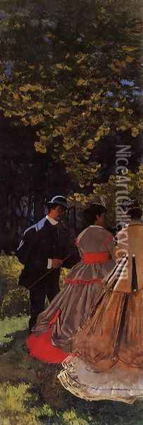 Luncheon on the Grass, Left Panel Oil Painting - Claude Oscar Monet