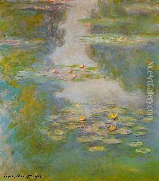 Water Lilies51 Oil Painting - Claude Oscar Monet