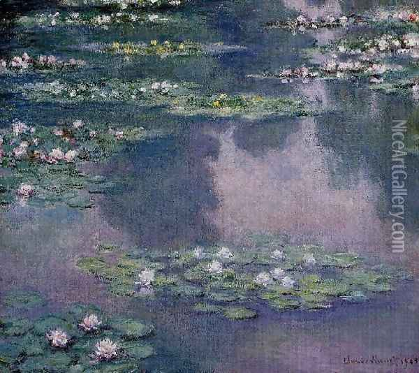 Water Lilies52 Oil Painting - Claude Oscar Monet
