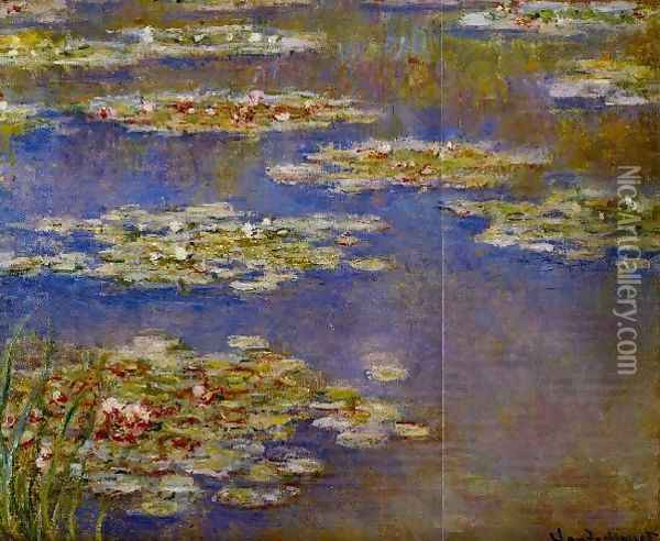 Water Lilies55 Oil Painting - Claude Oscar Monet