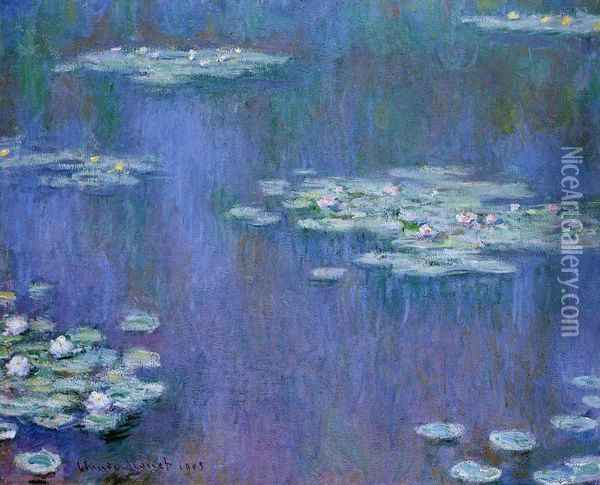 Water-Lilies XIII Oil Painting - Claude Oscar Monet