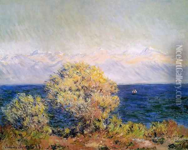 At Cap d'Antibes, Mistral Wind Oil Painting - Claude Oscar Monet
