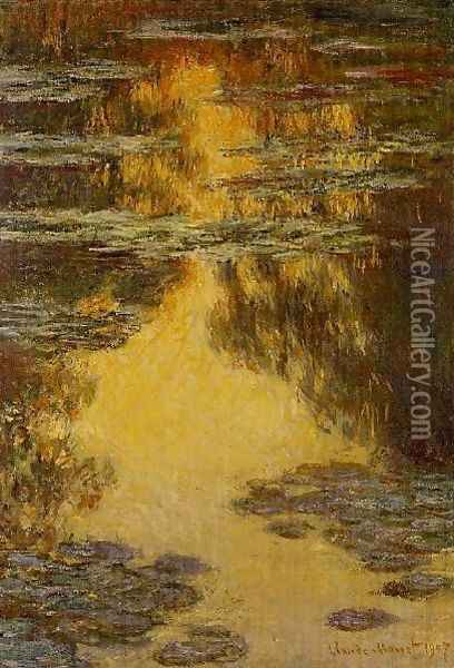 Water Lilies37 Oil Painting - Claude Oscar Monet