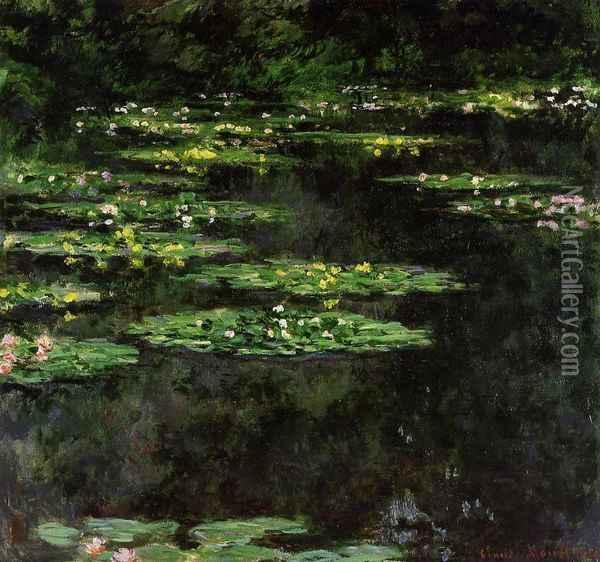 Water-Lilies V Oil Painting - Claude Oscar Monet