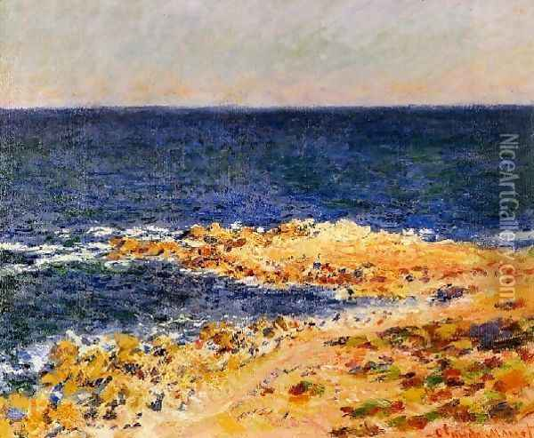 The Big Blue At Antibes Aka The Seat At Antibes Oil Painting - Claude Oscar Monet