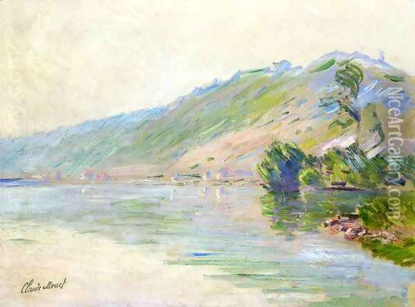The Seine at Port-Villes, Clear Weather Oil Painting - Claude Oscar Monet