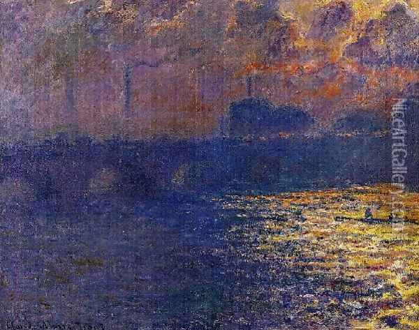 Waterloo Bridge Sunlight Effect2 Oil Painting - Claude Oscar Monet