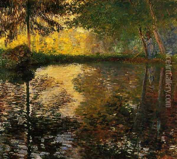 The Pond At Montgeron Oil Painting - Claude Oscar Monet