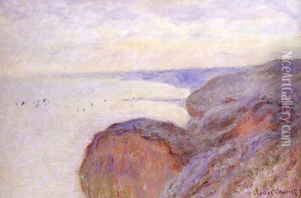 Cliffs Near Dieppe Oil Painting - Claude Oscar Monet