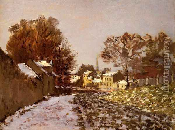 Snow at Argenteuil I Oil Painting - Claude Oscar Monet