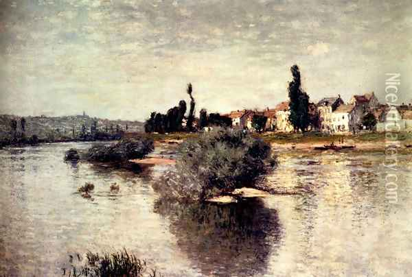 The Seine At Lavacourt Oil Painting - Claude Oscar Monet