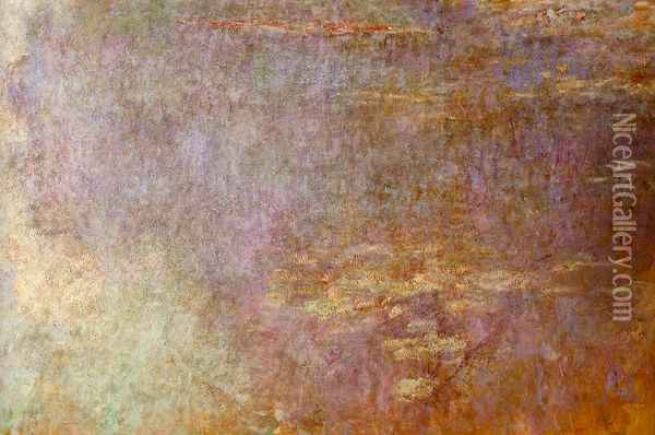 Water-Lilies (right half) I Oil Painting - Claude Oscar Monet