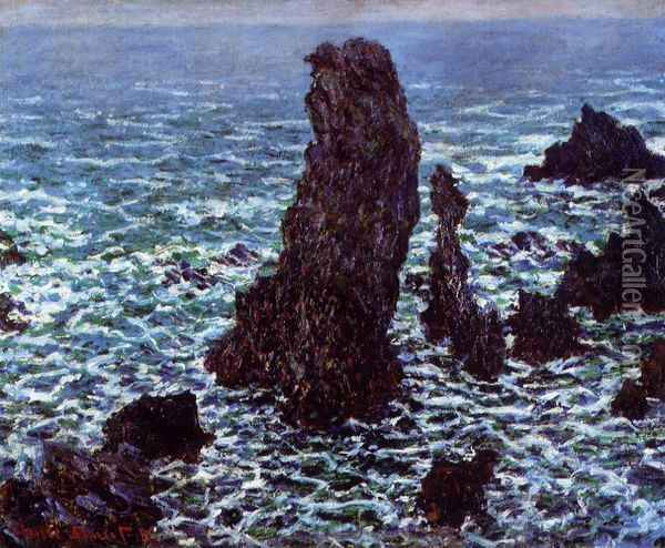 The 'Pyramids' of Port Coton, Belle-Ile-en-Mer Oil Painting - Claude Oscar Monet