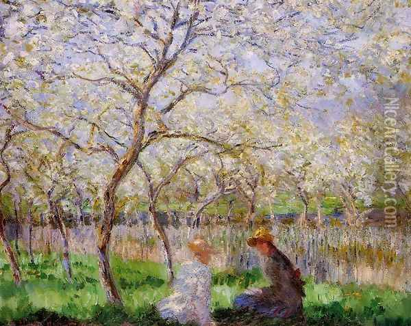 Springtime Oil Painting - Claude Oscar Monet