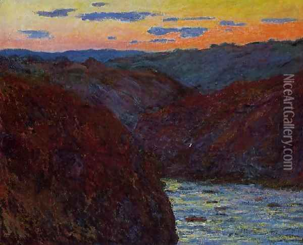 Valley Of The Creuse Sunset2 Oil Painting - Claude Oscar Monet