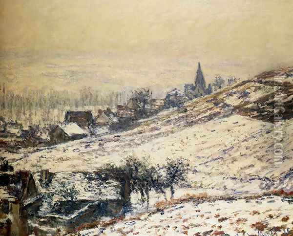 Winter At Giverny 2 Oil Painting - Claude Oscar Monet