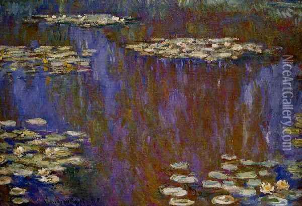 Water-Lilies XII Oil Painting - Claude Oscar Monet