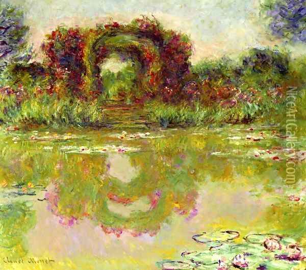 Rose Arches at Giverny Oil Painting - Claude Oscar Monet