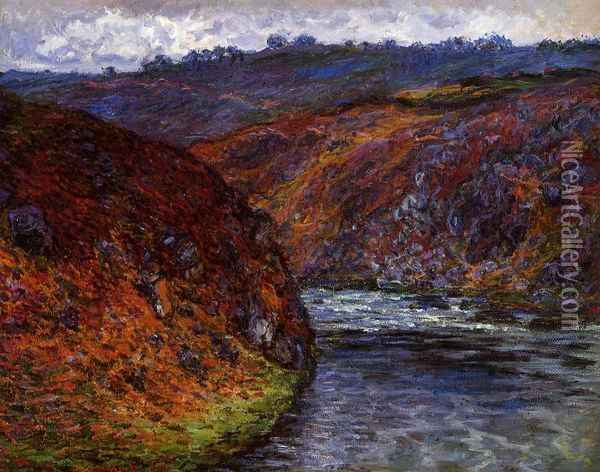 Valley of the Creuse, Grey Day Oil Painting - Claude Oscar Monet