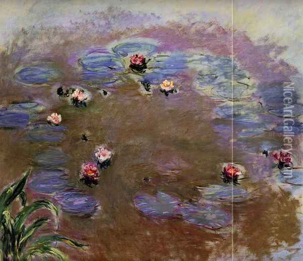 Water-Lilies (detail) Oil Painting - Claude Oscar Monet