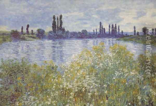Bank of the Seine. Vétheuil Oil Painting - Claude Oscar Monet